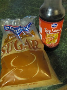 Brown sugar and soy sauce. Who'd have thunk it?