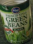 I use French-style sliced green beans when available, but it's a matter of personal preference.