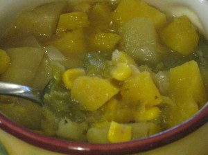 Mmm. This tastes like autumn in a bowl. Deee-lish! (And no, its not really sweet. Don't let the ingredients fool you.)