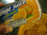 Frozen orange juice concentrate makes this dip zingy!