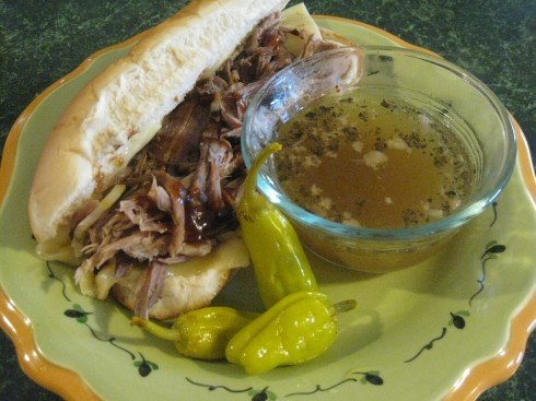 With a little au jus and pepperoncini, these hearty subs are a whole meal by themselves!