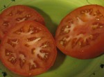 Big, fresh tomato slices. Yum.