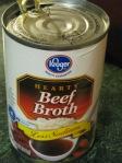 Beef broth.