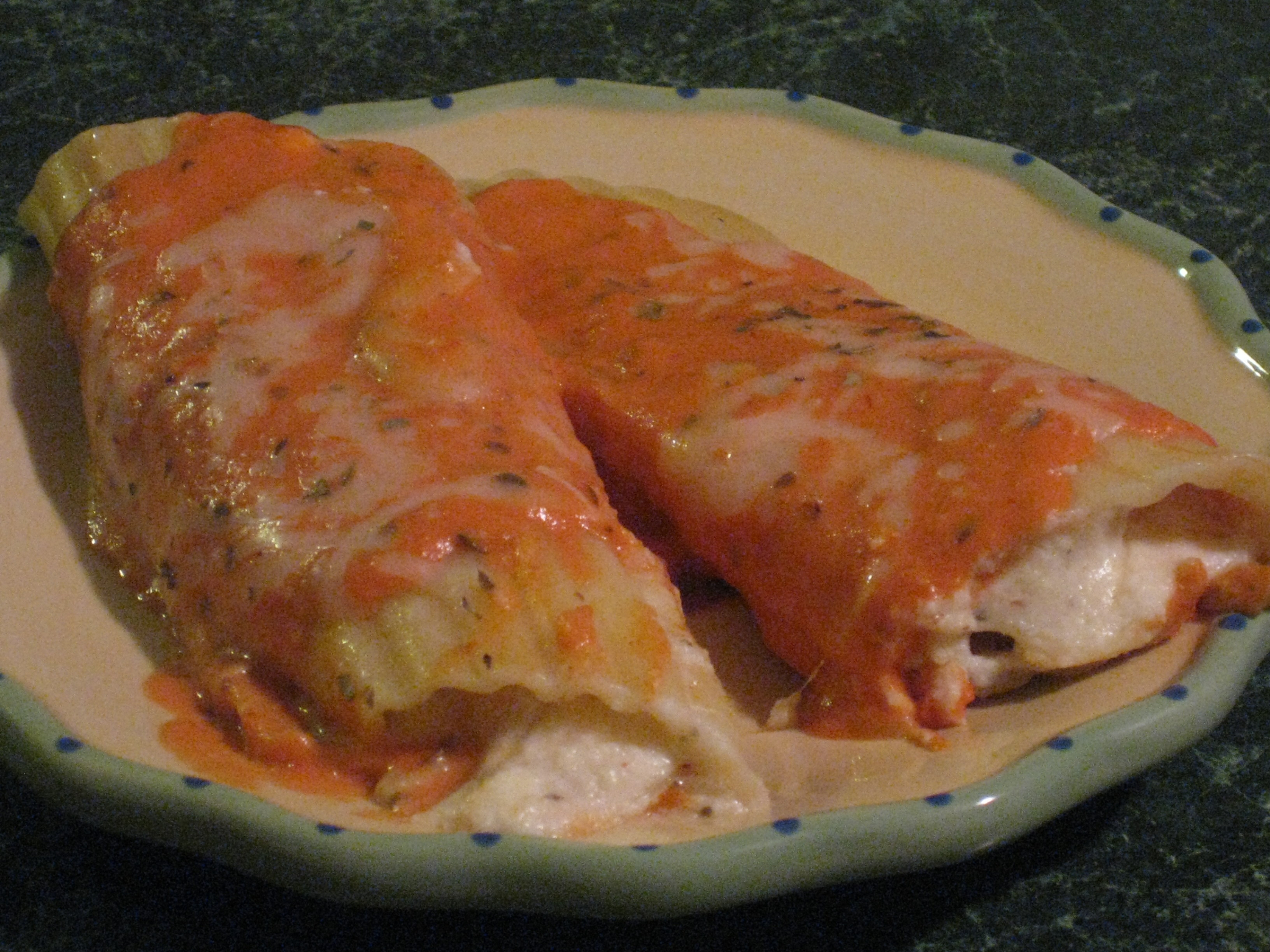 Fancy Recipe: Seafood-Stuffed Manicotti with Cream Cheese ...
