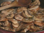 Sauteed mushrooms.