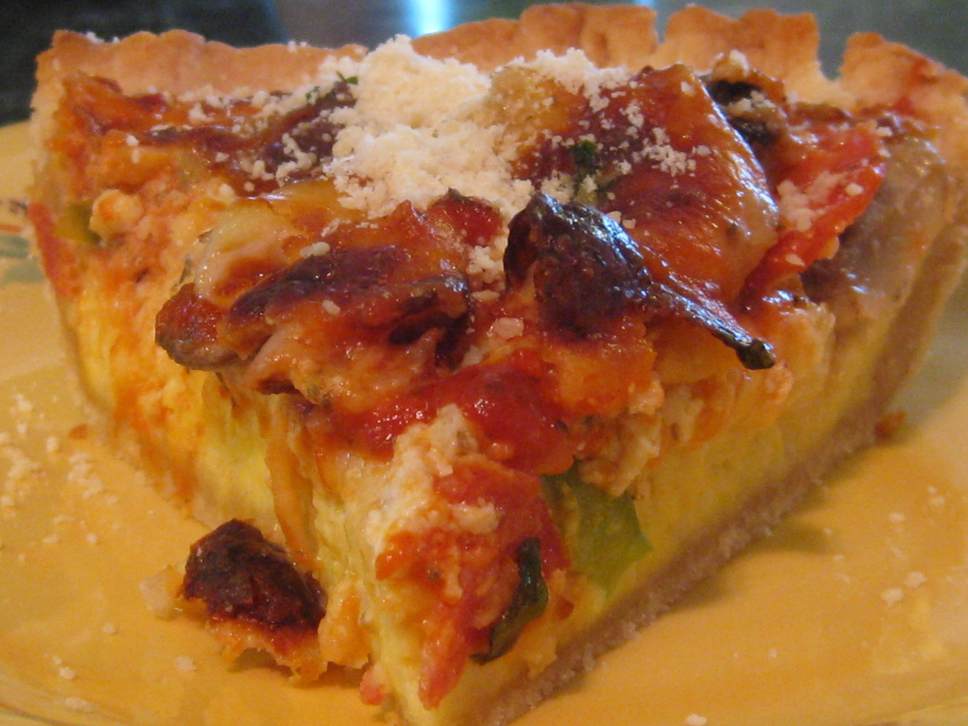 Deep Dish Pizza Pie Recipe Amazing Recipe Deep-dish